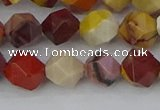 CMK325 15.5 inches 8mm faceted nuggets mookaite gemstone beads