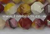 CMK327 15.5 inches 12mm faceted nuggets mookaite gemstone beads