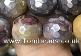 CMK340 15.5 inches 10mm faceted round AB-color mookaite beads