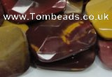 CMK39 15.5 inches 30*40mm faceted rectangle mookaite beads wholesale