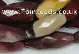 CMK49 15.5 inches 14*38mm faceted rice mookaite beads wholesale