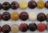 CMK85 15.5 inches 10mm flat round mookaite beads wholesale