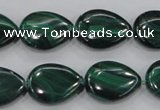 CMN102 15.5 inches 15*20mm flat teardrop natural malachite beads