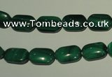 CMN303 15.5 inches 8*12mm rectangle natural malachite beads wholesale