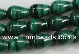 CMN414 15.5 inches 5*7mm teardrop natural malachite beads wholesale