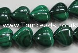 CMN425 15.5 inches 8*8mm heart natural malachite beads wholesale