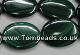 CMN437 15.5 inches 18*25mm oval natural malachite beads wholesale