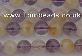 CMQ311 15.5 inches 6mm round citrine & amethyst beads wholesale