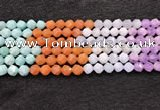 CMQ462 15.5 inches 8mm faceted nuggets mixed quartz beads