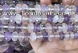 CMQ520 15.5 inches 8*12mm faceted rondelle colorfull quartz beads