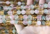 CMQ532 15.5 inches 10mm faceted round colorfull quartz beads