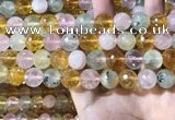 CMQ533 15.5 inches 12mm faceted round colorfull quartz beads