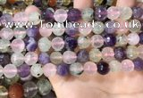 CMQ538 15.5 inches 10mm faceted round colorfull quartz beads