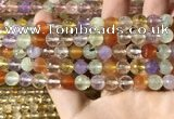 CMQ550 15.5 inches 8mm faceted round colorfull quartz beads