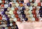 CMQ553 15.5 inches 10mm faceted round colorfull quartz beads