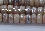 CMS1321 15.5 inches 4*6mm faceted rondelle AB-color moonstone beads