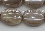 CMS1350 15.5 inches 12*16mm oval AB-color moonstone beads