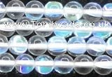 CMS1502 15.5 inches 8mm round synthetic moonstone beads wholesale