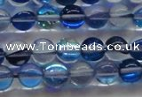 CMS1582 15.5 inches 8mm round synthetic moonstone beads wholesale
