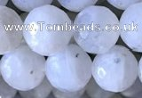 CMS1857 15.5 inches 10mm faceted round white moonstone beads wholesale