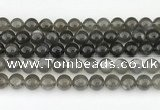 CMS2022 15.5 inches 10mm round black moonstone beads wholesale