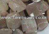 CMS42 15.5 inches 14*14mm faceted diamond moonstone gemstone beads
