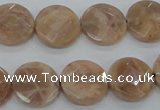 CMS47 15.5 inches 16mm faceted coin moonstone gemstone beads
