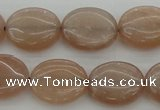 CMS961 15.5 inches 10*12mm oval A grade moonstone beads