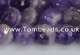 CNA1073 15.5 inches 10mm faceted round dogtooth amethyst beads