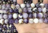 CNA1085 15.5 inches 12mm round dogtooth amethyst beads wholesale