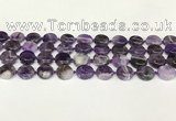 CNA1120 15.5 inches 14mm flat round dogtooth amethyst beads