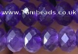 CNA1134 15.5 inches 6*8mm faceted rondelle amethyst gemstone beads