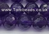 CNA1176 15.5 inches 8mm faceted round natural amethyst beads