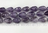 CNA1181 15.5 inches 15*20mm faceted teardrop amethyst beads