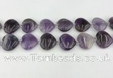 CNA1190 15.5 inches 20*20mm heart amethyst beads wholesale