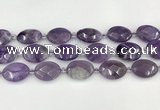 CNA1202 15.5 inches 18*25mm faceted oval amethyst beads