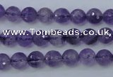 CNA252 15.5 inches 8mm faceted round natural amethyst beads