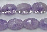 CNA316 15.5 inches 13*18mm faceted rice natural lavender amethyst beads