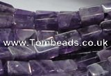 CNA36 15.5 inches 8*12mm cuboid grade AB natural amethyst beads