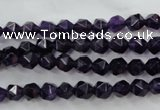 CNA501 15 inches 6mm faceted nuggets amethyst gemstone beads