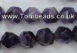 CNA505 15 inches 14mm faceted nuggets amethyst gemstone beads