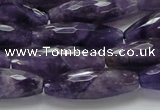 CNA54 15.5 inches 10*30mm faceted rice grade AB+ natural amethyst beads