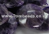 CNA58 15.5 inches 30mm faceted coin grade AB+ natural amethyst beads