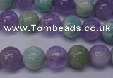 CNA653 15 inches 10mm round lavender amethyst & amazonite beads