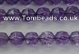 CNA68 15.5 inches 6mm faceted round natural amethyst beads