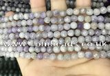 CNA685 15.5 inches 4mm faceted round lavender amethyst beads