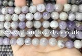 CNA688 15.5 inches 10mm faceted round lavender amethyst beads