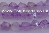 CNA730 15.5 inches 6mm faceted nuggets light lavender amethyst beads
