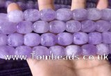 CNA786 15.5 inches 12*16mm drum lavender amethyst beads