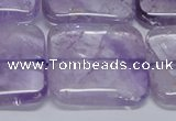 CNA848 15.5 inches 35mm square natural light amethyst beads